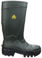 Amlbers Full Safety PU Welly Green