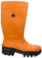 Amblers Full Safety Welly Orange PU