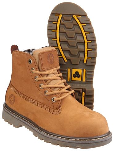 FS103 Ladies Safety Boots Brown