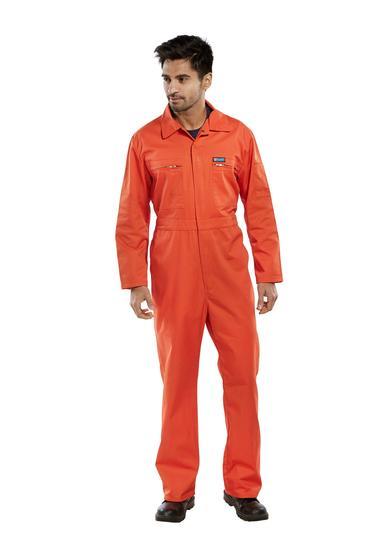 Click Polycotton Boilersuit Orange