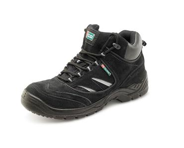 Safety Trainer Hiker Boots Black