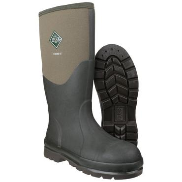 Muckboots Chore Steel Safety Welly Green