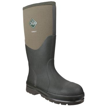 Muckboots Chore Steel Safety Welly Green Thumbnail 4