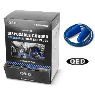 QED301CD Corded Detectable Ear Plugs SNR39db