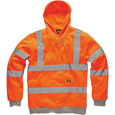 Dickies SA22090Hi Viz Hoodie Orange Thumbnail 1