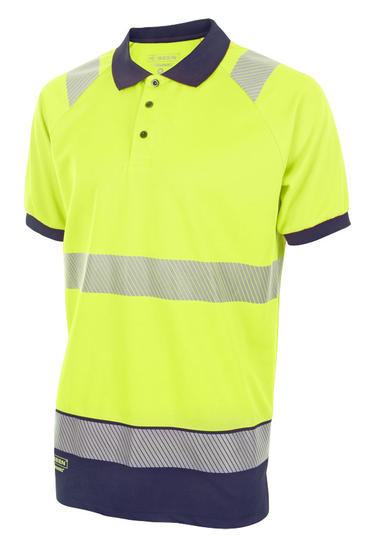 Two Tone Hi Viz Polo Shirt HVTT010 Thumbnail 2