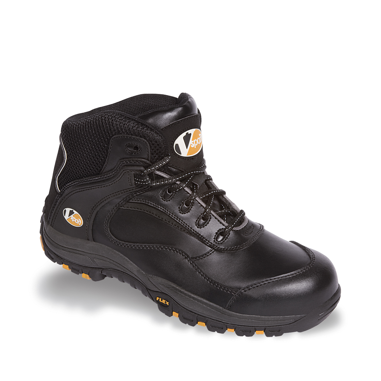 ee5bfcf65b8 Details about V12 Smash Safety Work Trainer Boots Black Toecap   Midsole  VS640 Sizes 6-13