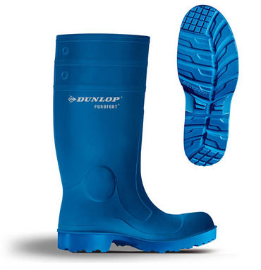 Dunlop Purofort Welly Blue Thumbnail 1