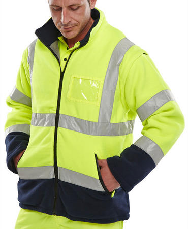 Two Tone Hi Viz Fleece Jacket