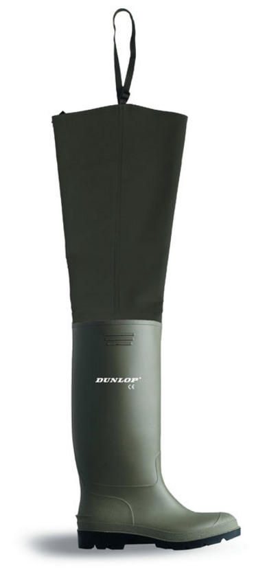 Dunlop Green PVC Thigh Waders