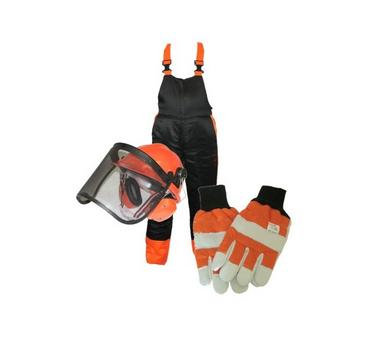 Chainsaw Safety Kit Helmet Gloves Chaps EN381