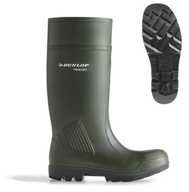 Dunlop Purofort Full Safety Welly Green C462933