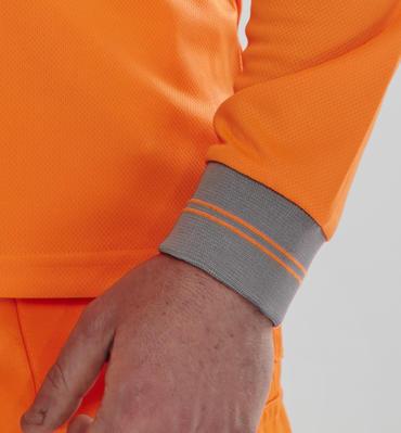 Long Sleeve Hi Viz Polo Shirt Thumbnail 2