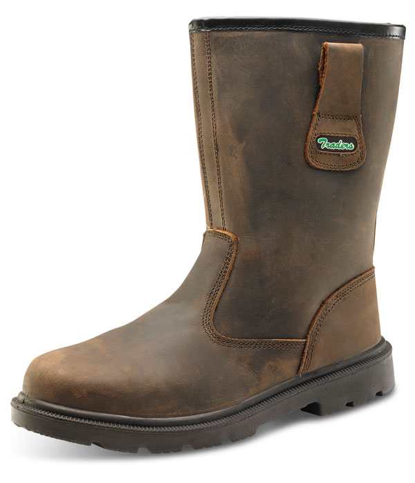 Click Safety Traders Braun Leder Safety Click Rigger Work Stiefel CTF48 S3 SRC 5-12 Midsole c22e00