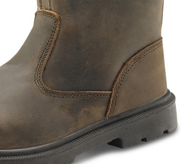 Click Traders Safety Riggers Boots Brown Thumbnail 2