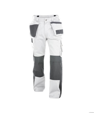 Dassy Seattle Work Trousers White/Grey