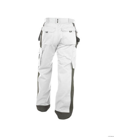 Dassy Seattle Work Trousers White/Grey Thumbnail 2