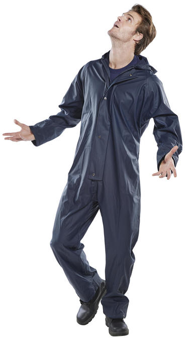 Super B Dri Waterproof Coverall Navy Blue Thumbnail 3