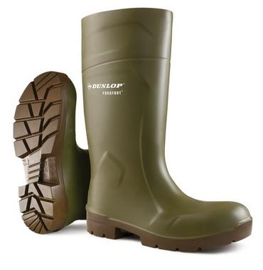 Dunlop Purofort Multigrip Safety Wellies Green Thumbnail 1