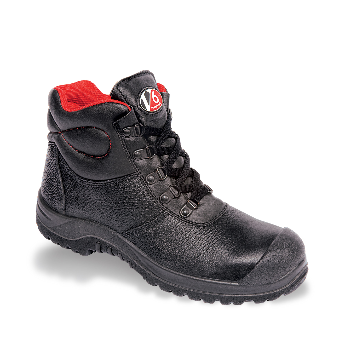 V12 Rhino Safety Work Boots Black V6863 Scuff Cap | The Safety Shack