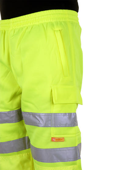 Be Seen Hi Viz Jogging Bottoms Joggers  Thumbnail 4