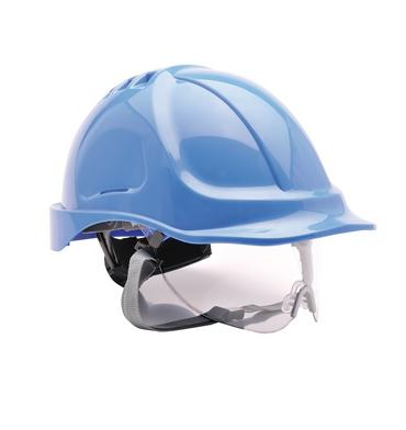 Portwest PW55 Safety Helmet with Integral Visor Thumbnail 1
