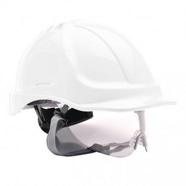 Portwest PW55 Safety Helmet with Integral Visor Thumbnail 3