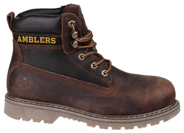 Amblers FS164 Brown Leather Safety Work Boots  Thumbnail 3