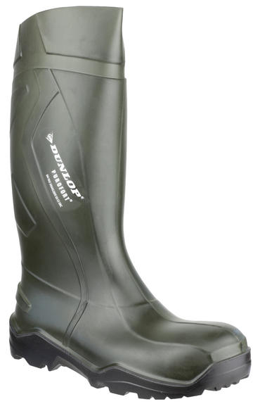 Dunlop Purofort + Full Safety Welly Green