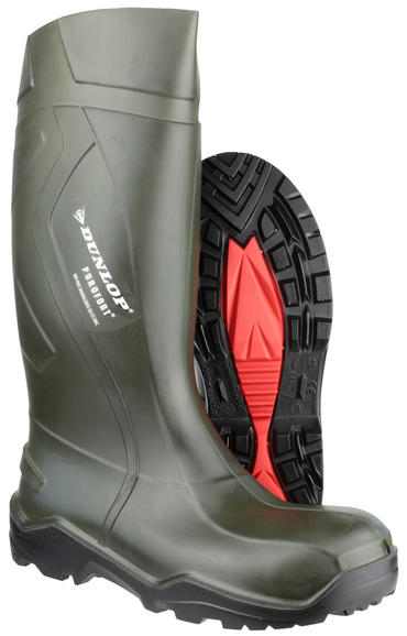 Dunlop Purofort + Full Safety Welly Green  Thumbnail 3