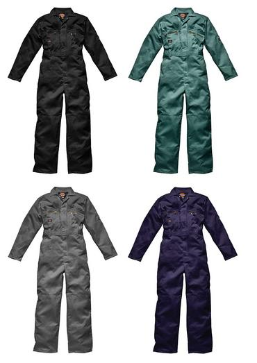 Dickies WD4839 Zip Overalls 4 Colours Thumbnail 1