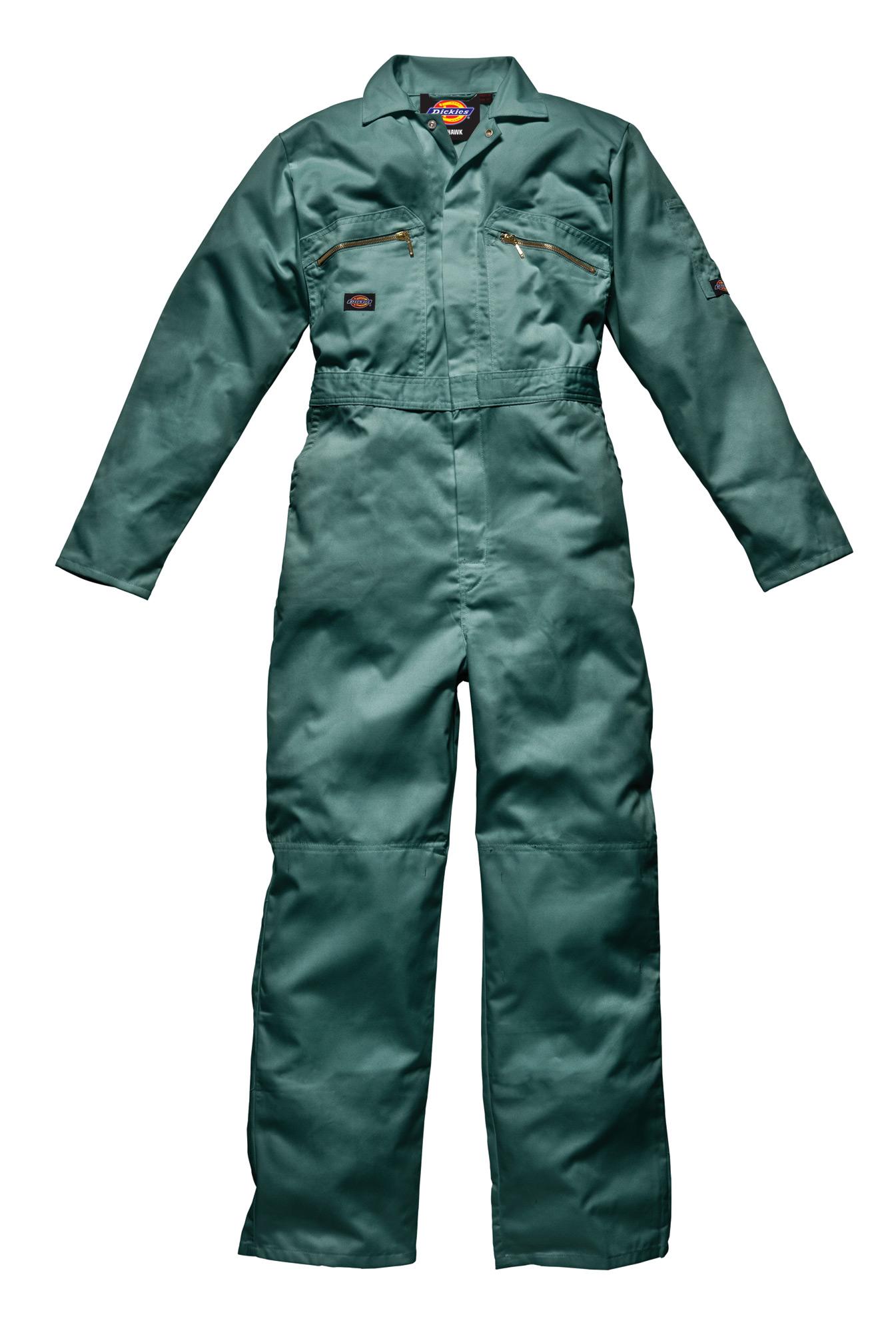 Dickies Redhawk Wd4839 Overalls Coveralls Boilersuit Green