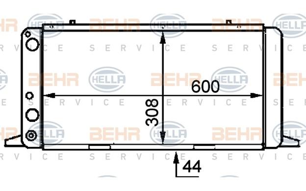 HELLA Radiador, refrigeración del motor AUDI 80 COUPE 8MK 376 714-471