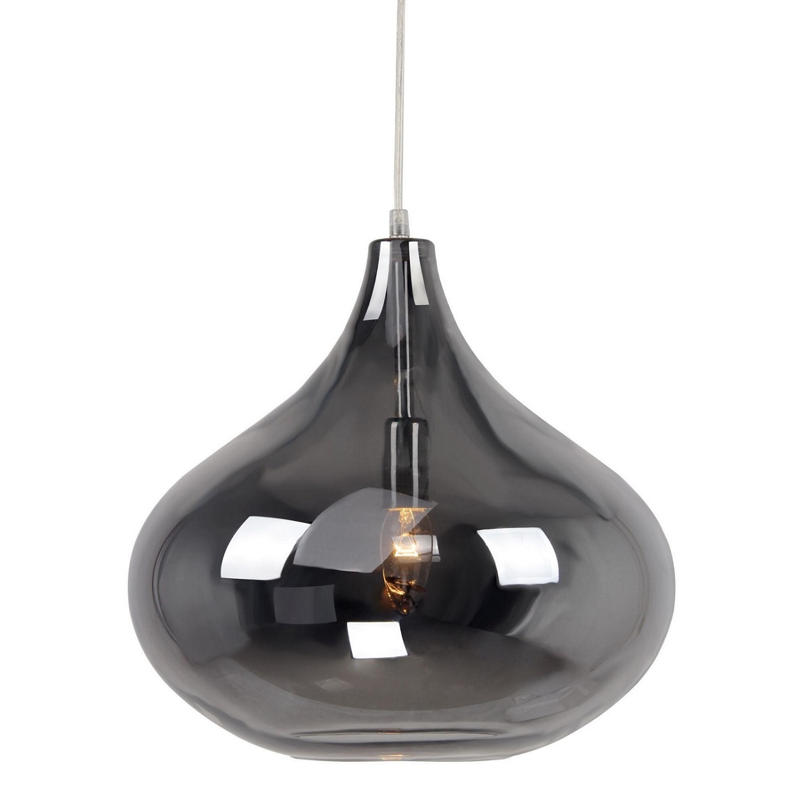 Pendant Ceiling Light Modern Smoke Glass Debenhams Home
