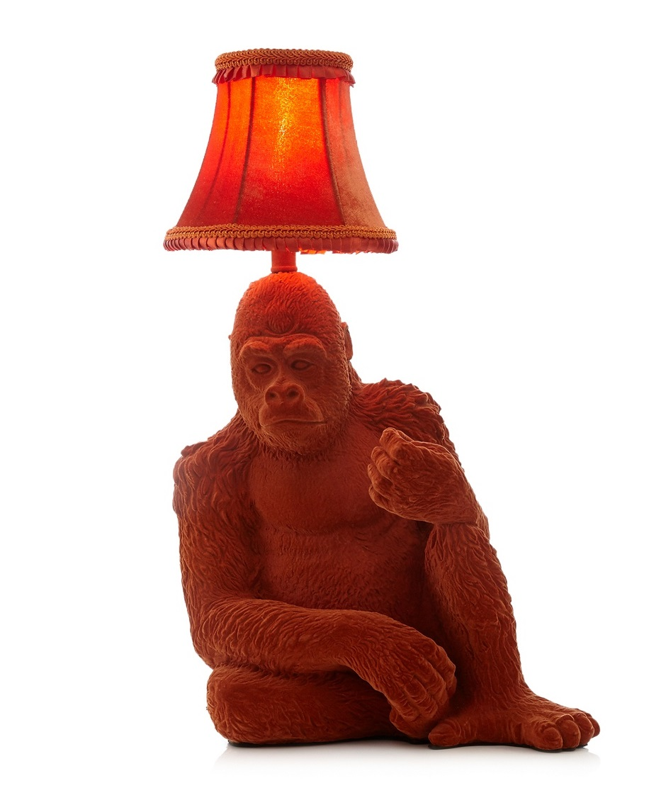 Sentinel Abigail Ahern/EDITION Orange Gorilla Table Lamp Office Desk Light