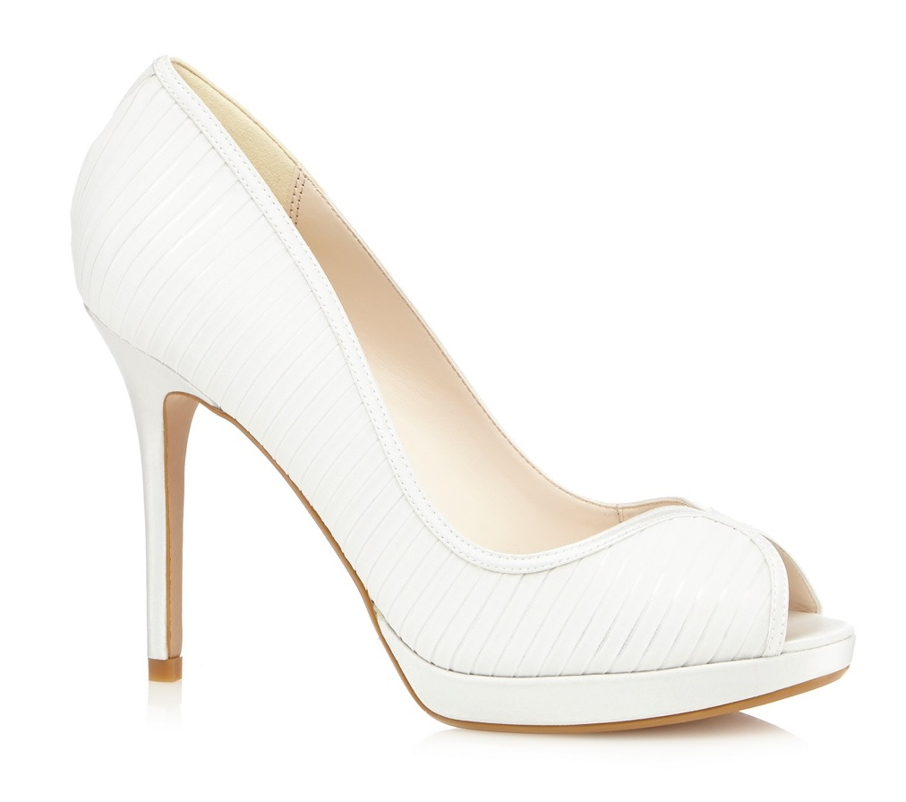 c903d043789 No. 1 Jenny Packham Womens Peep Toe High Heel Court Shoes Ivory ...