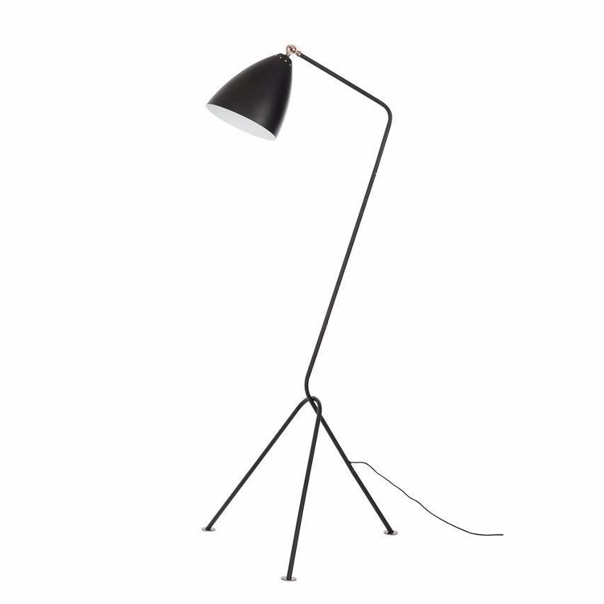 Sentinel debenhams home collection dexter tripod floor lamp black and copper metal