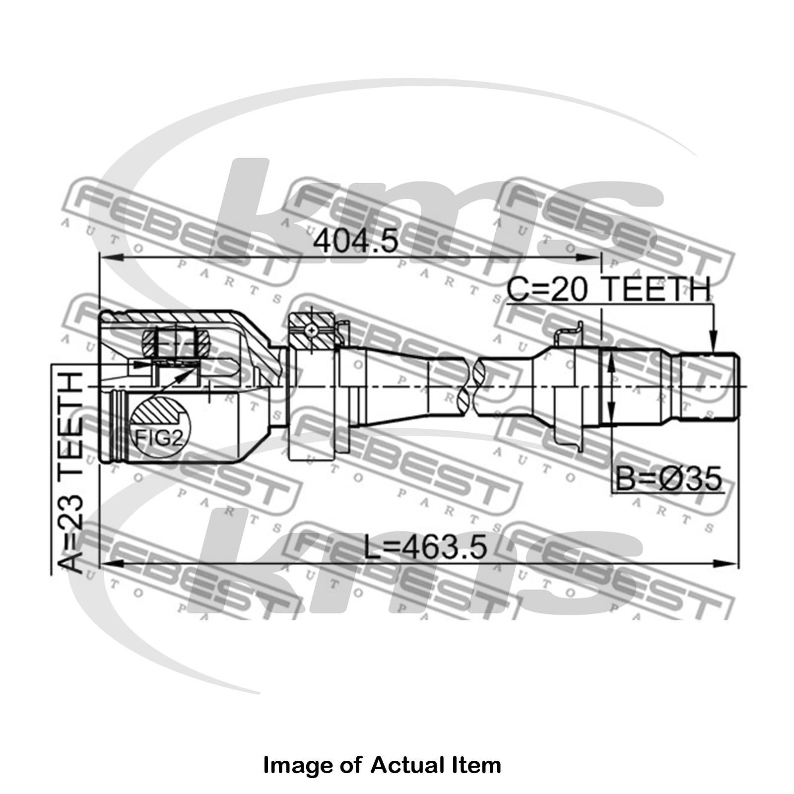 New Genuine Febest Driveshaft Cv Joint 0111 Sxm10rh Top German Diagram Sentinel Quality