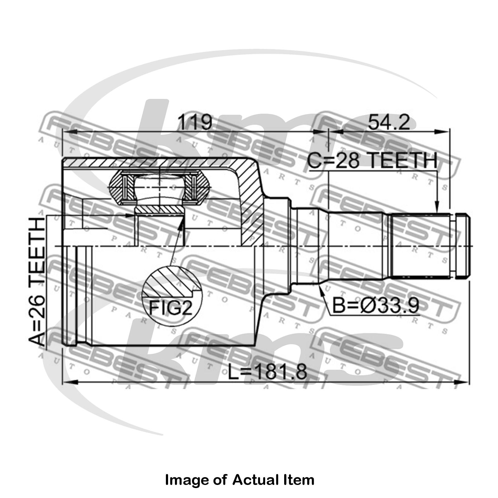 New Genuine Febest Driveshaft Cv Joint Kit 2111 Ca2lh Top German Diagram Sentinel Quality