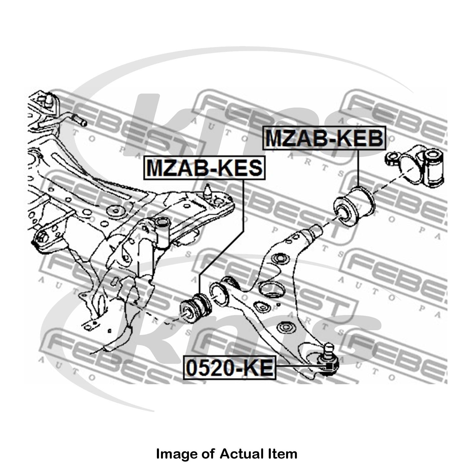 Fabulous New Genuine Febest Wishbone Control Trailing Arm Bush Mzab Keb Top Wiring Cloud Hisonuggs Outletorg