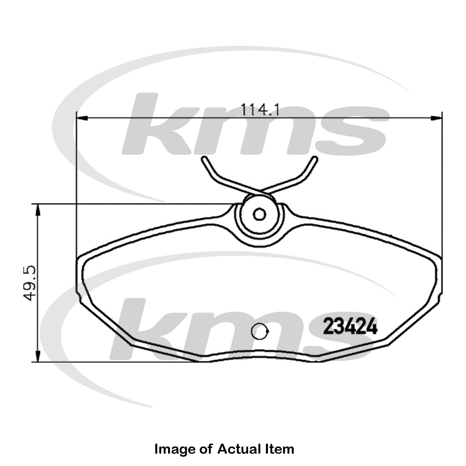Borg /& Beck BBP1743 Rear Brake Pads Lucas - Girling