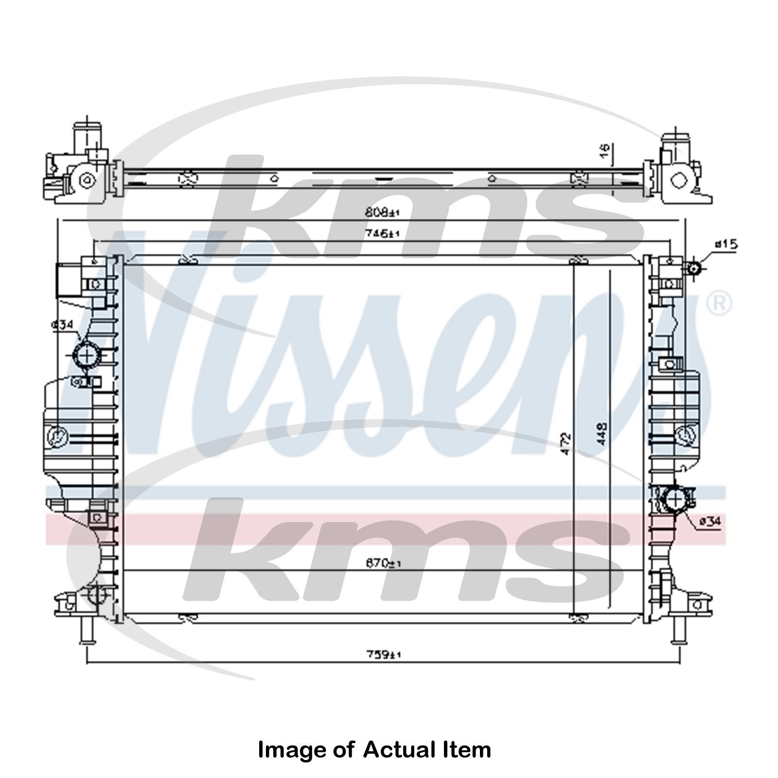 New Genuine Nissens Radiator 620152 Top Quality 5707286410794 Ebay 472 Cadillac Engine Diagram Sentinel