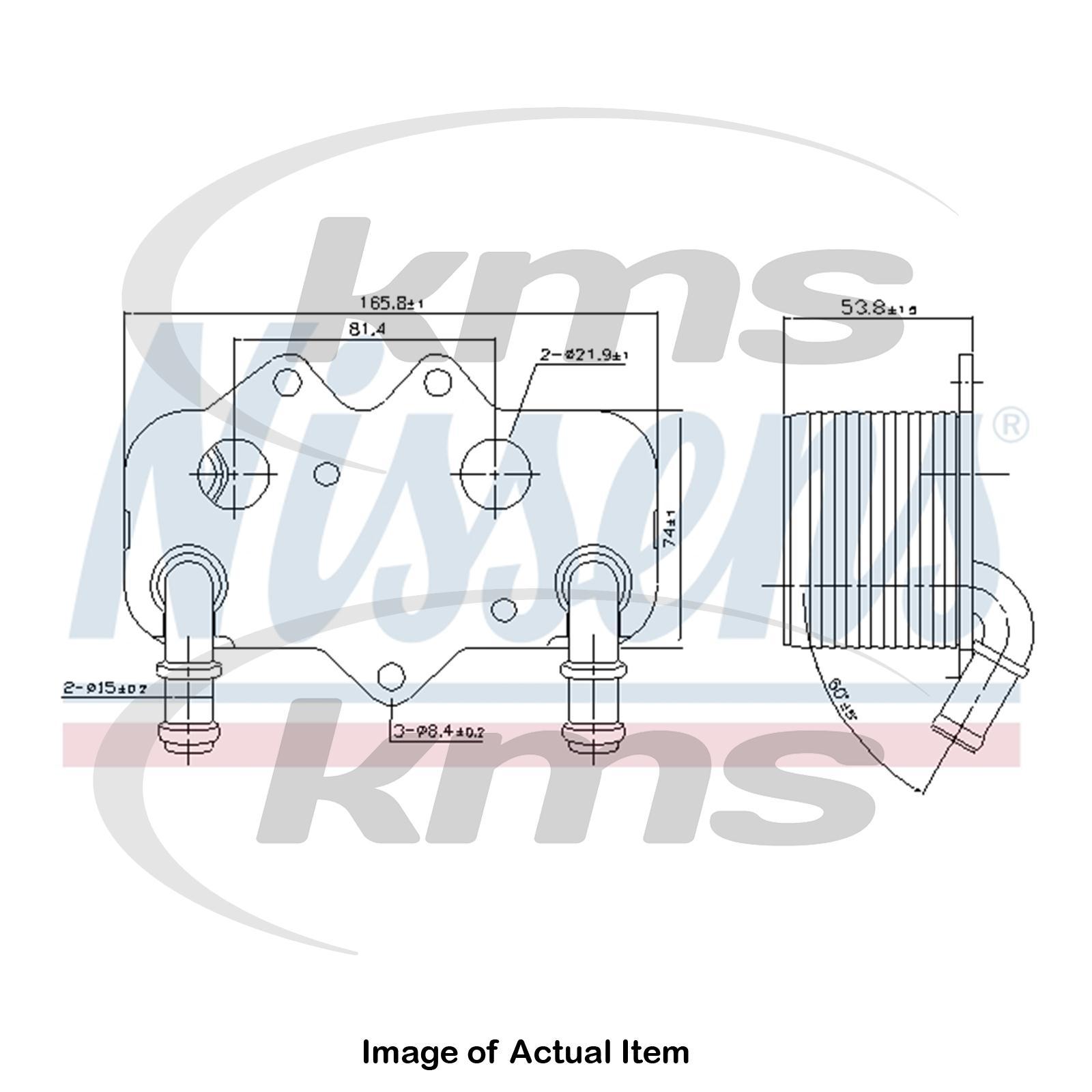 New Genuine Nissens Engine Oil Cooler 90781 Top Quality Ebay Audi 2000 2 8l Diagram Sentinel Thumbnail