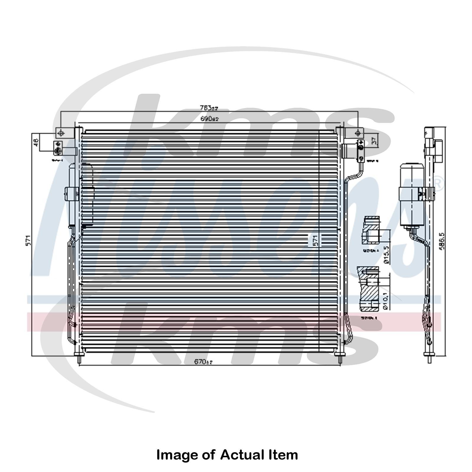 Single DCN06016 DENSO Air Conditioning Condenser