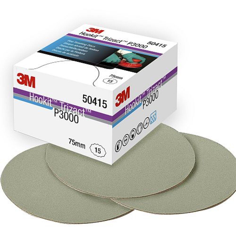 3M 50415 Hookit Trizact Fine Finishing Discs 15 Pieces P3000 75mm Paint | eBay