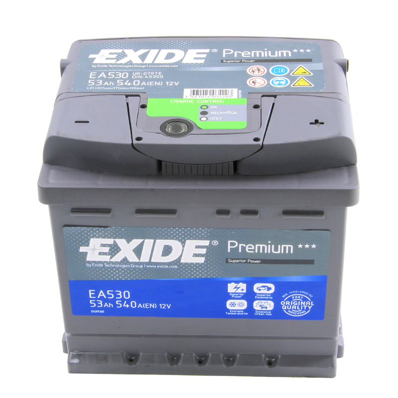 Type 012 Car Battery 540CCA OEM Replacement Exide Premium 12V 53Ah 4 Years Wty