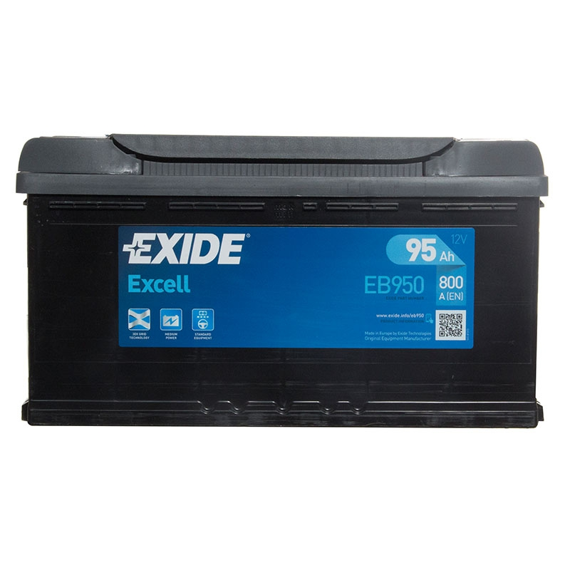 OEM Replacement Exide Excell Car Battery 12V 95Ah Type 017 800CCA 3 Years Wty