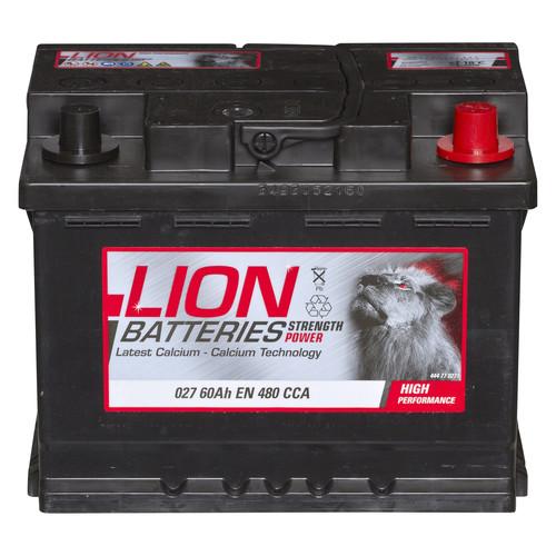 Type 027 Car Battery 480CCA Lion Batteries 12V 60Ah 3