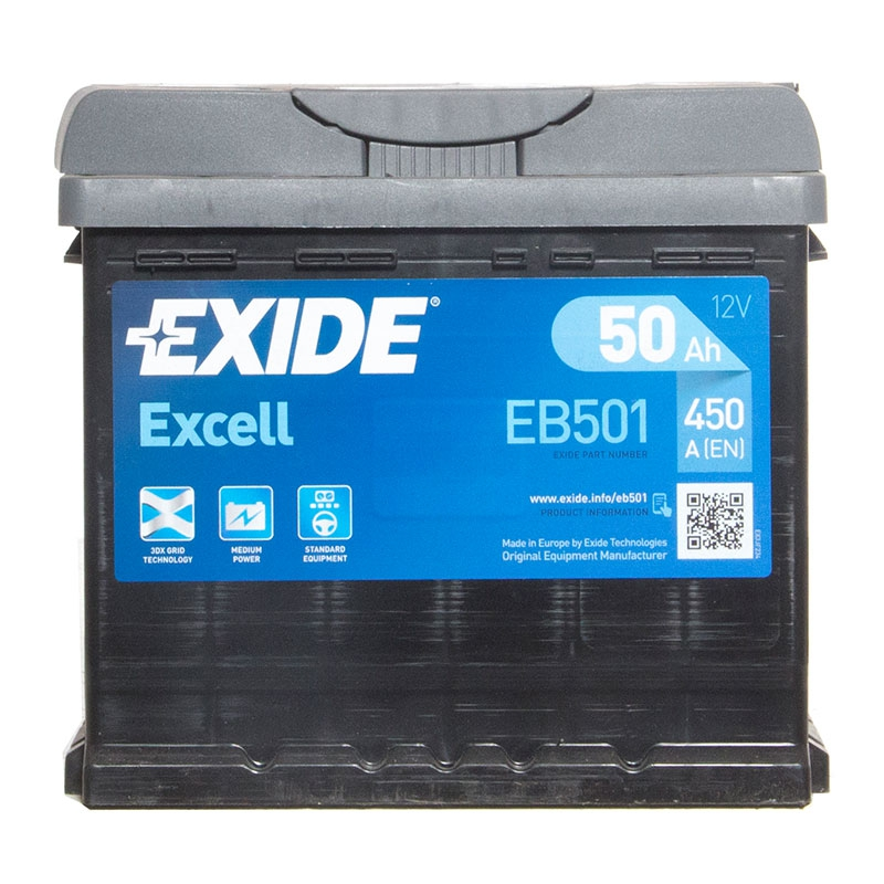 OEM Replacement Exide Excell Car Battery 12V 62Ah Type 027 540CCA 3 Years Wty