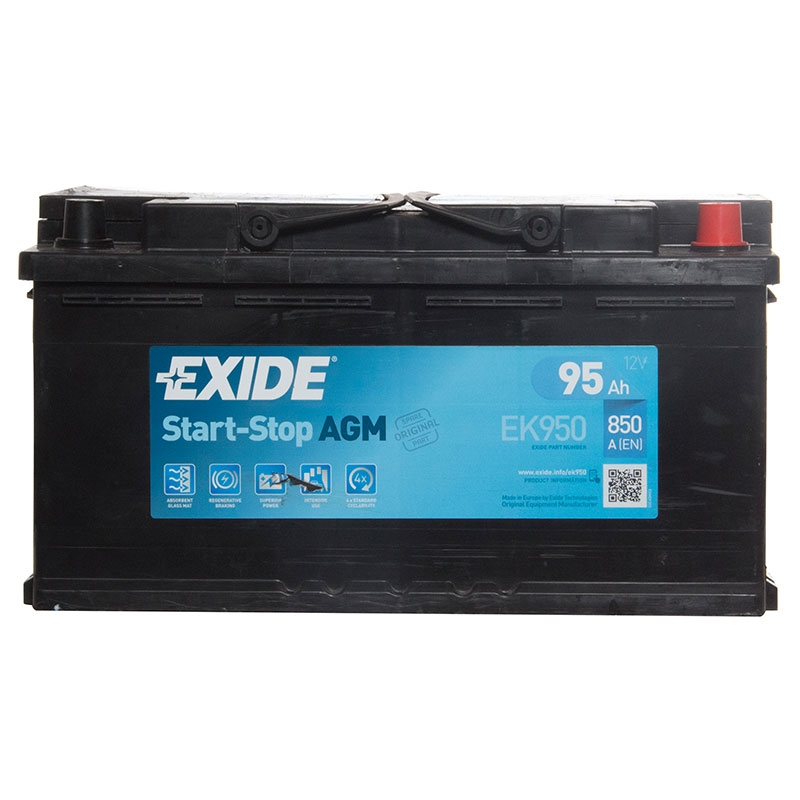 type 019 car battery 850cca exide agm gel 12v 95ah 3 years. Black Bedroom Furniture Sets. Home Design Ideas